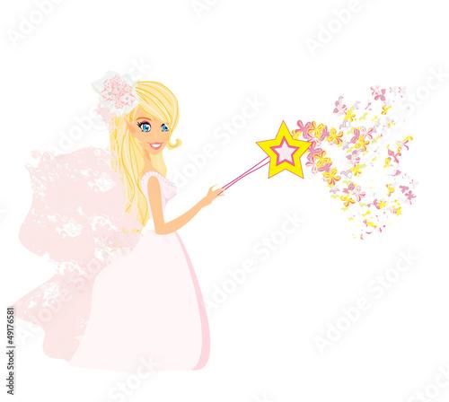 beautiful fairy vector graphic