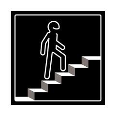 picto accès escalier