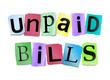 Unpaid bills concept.