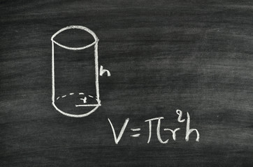 Cylindrical volume formula