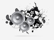 abstract music background with subwoofer