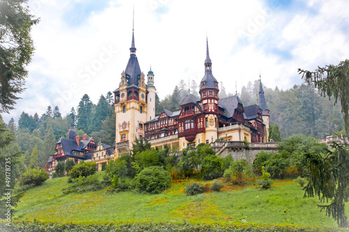 Peles palace in Sinaia, Romania