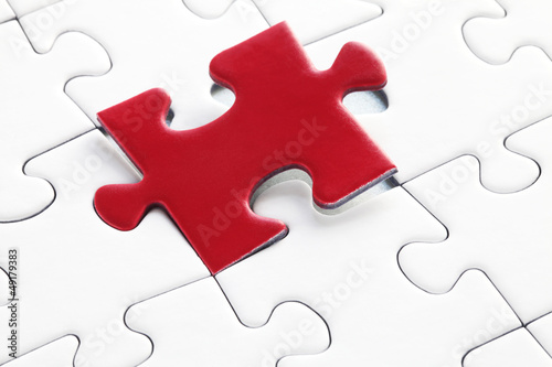 Jig Saw Puzzle - Last Missing Piece Red