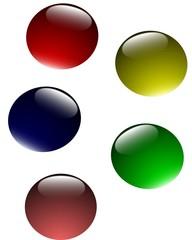 glass bubble buttons