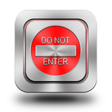 Do not enter aluminum glossy icon, button