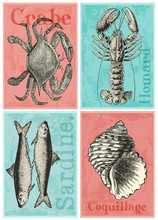 4 cartes postales