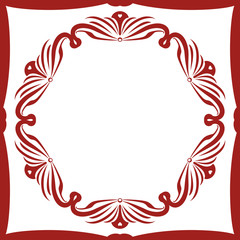 Chraming Decorative Frame out of Squared and Round Ornament