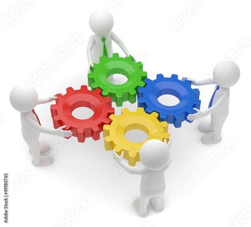 Teamwork Zahnräder