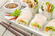 Goi Cuon - Vietnamese fresh spring rolls with pork and prawns