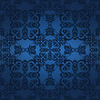 Seamless vintage background in blue