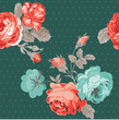 Seamless Vintage Flower Background - for design and scrapbook -
