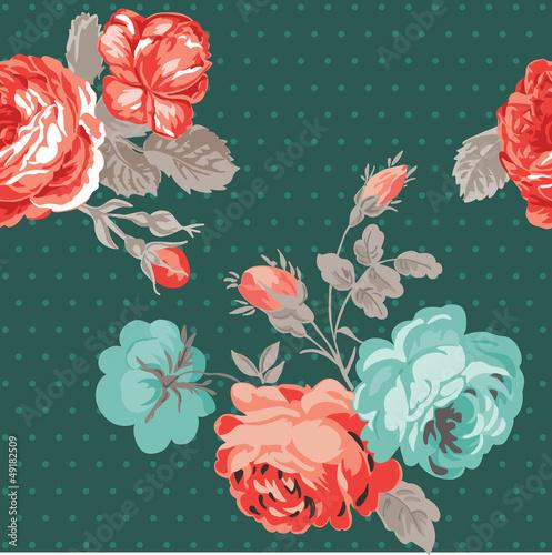 Seamless Vintage Flower Background - for design and scrapbook -