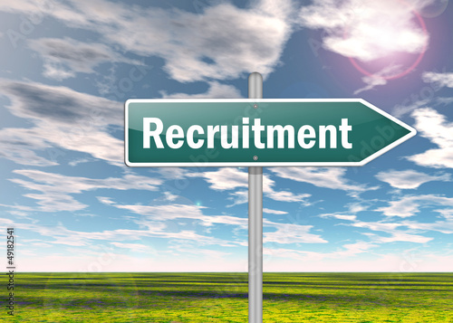 "Signpost ""Recruitment"""