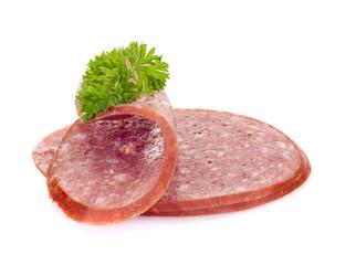 sliced smoked sausage