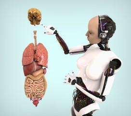 Humanoid con Anatomía humana
