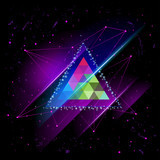 hipster Space triangle mystic galaxy astral triangle