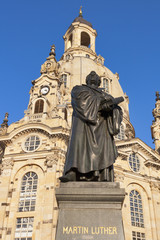 Statue of Martin Luther in Dresden