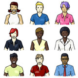 Set of hand-drawn people icons