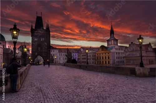Prague, the charles bridge