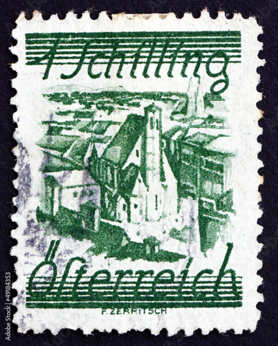 Postage stamp Austria 1925 Church of Minority Friars