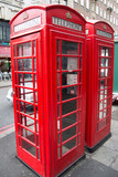 Public telephone box in London.