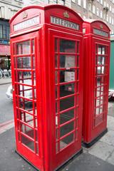 Public telephone box in London.