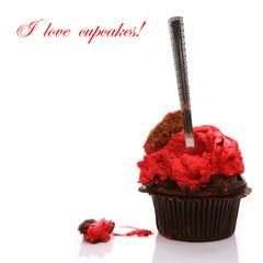 Eaten cupcake