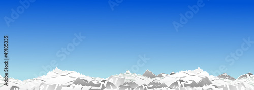 Berge Winter blauer Himmel