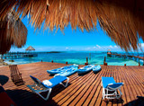 Vacation in Tropic Paradise. Isla Mujeres, Mexico
