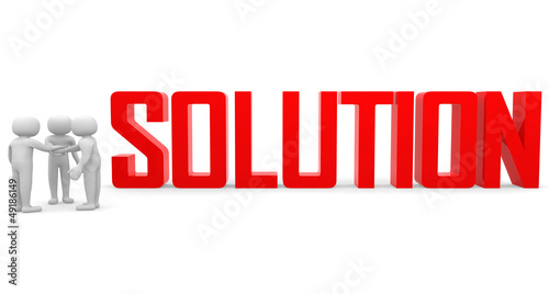 Finding solution. Conceptual business illustration.On white back