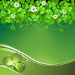 Saint Patrick's Day background with clover