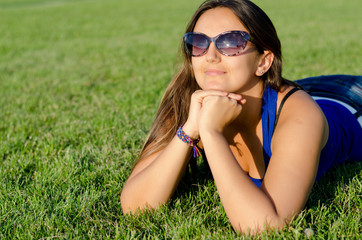Woman enjoying the sunshine