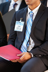 Detail Of Businessman At Conference