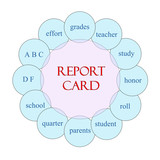 Report Card Circular Word Concept
