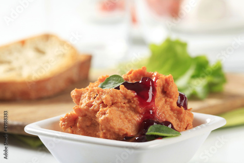 Bowl of spicy spread