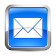 e-Mail - Button silber-blau