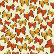 Beautiful butterfly pattern. Vector illustration
