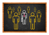 Businessman with bodyguards poster