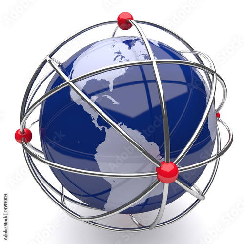 Planet Earth in Atom Cage America