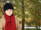 Child warm in a park