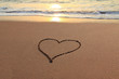 Love Heart on the beach
