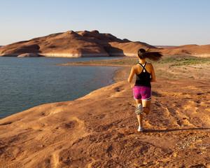 Young woman morning run