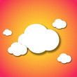 Vector cloud background. Eps10 creative illustration