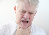 sore throat in older man