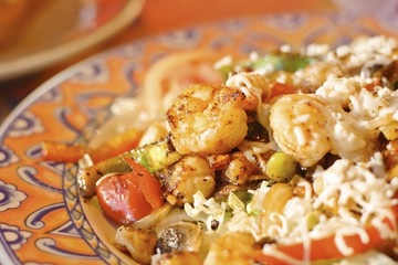 Grilled shrimp and scallop salad