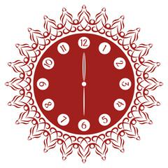 Decorative Rustic and Flamboyant Clock Face