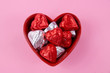 Valentine chocolate candy