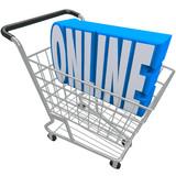 Online Shopping Cart Basket Word Internet Web Store