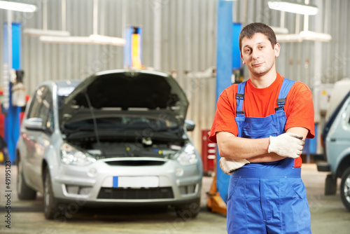 Repairman auto mechanic inspector