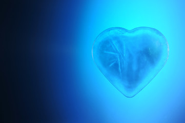 Heart made of ice is blue